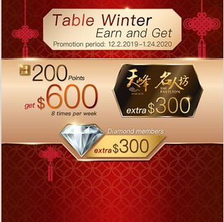 Table Winter Earn and Get